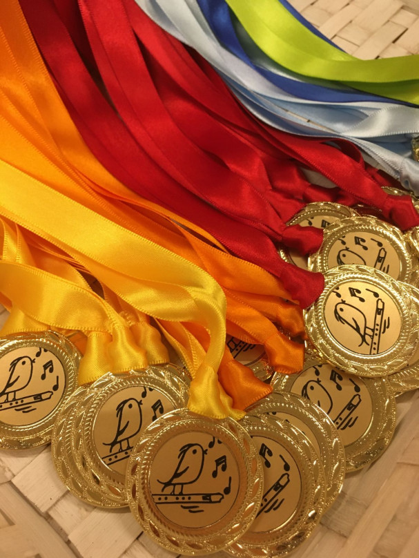 Blockflöten-Medaillen